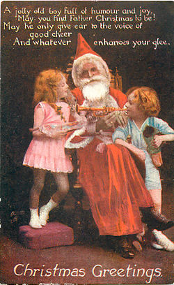 This image has an empty alt attribute; its file name is father_christmas_tuck_photo_oilette_postcard_1919_front.jpg